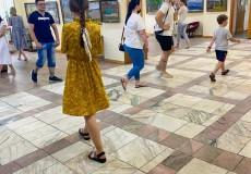 Студенческая практика на выставке А. Ткаченко